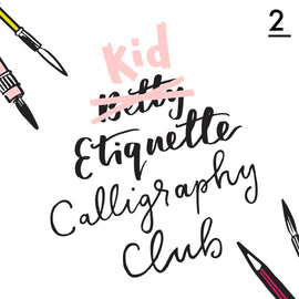 Betty Etiquette's Kid Etiquette Online Calligraphy Workshop Week Two Printable Worksheet For Making Serif Fonts
