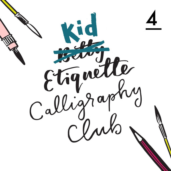 Betty Etiquette's Kid Etiquette Online Calligraphy Workshop Week Four Printable Worksheet For Balloon Letter Fonts