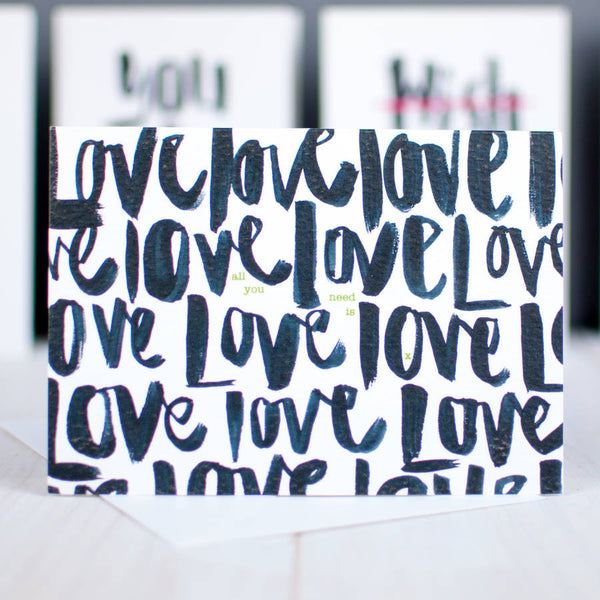 All Love Brush Script Card