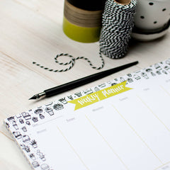 Seriously Succulent Weekly Planner Desk Pad
