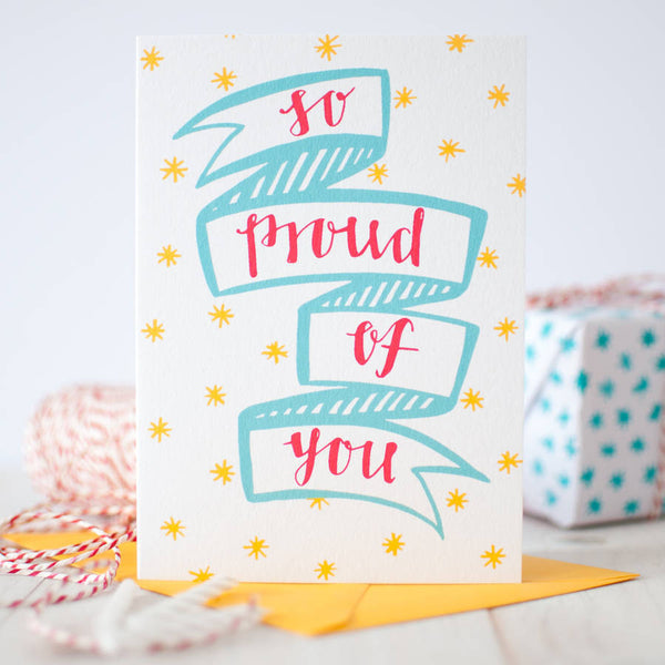 So Proud of You Congratulations card