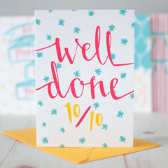Top Marks Congratulations card