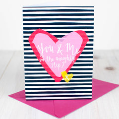 On the Naughty Step Valentine's Card