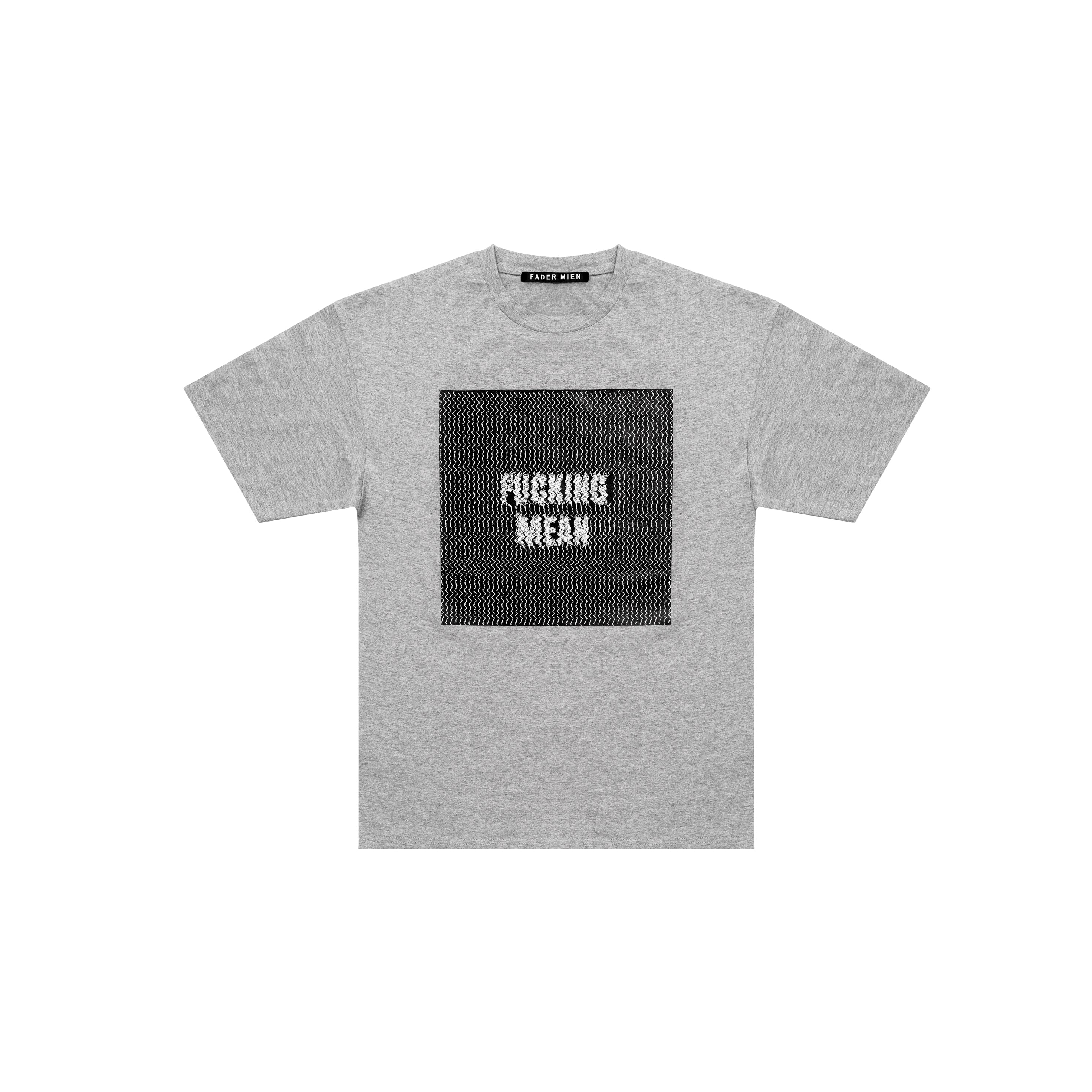 Grey Analog Print T-Shirt