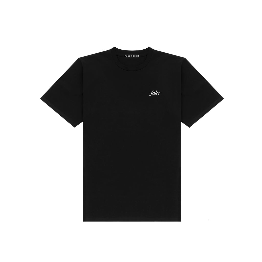 Black Fake Print T-Shirt