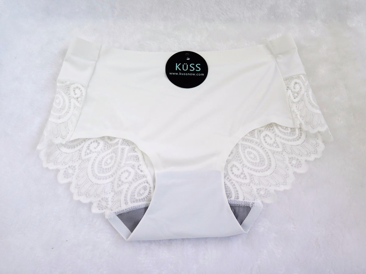 KüssNow! Seamless Hiphugger with a Touch of Lace