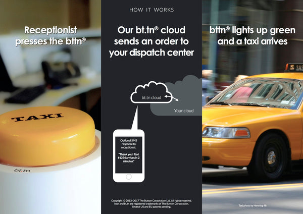 bttn for taxi services - brochure