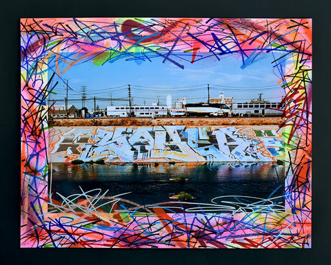 LA RIVER PIECE Hand Painted Small Giclee