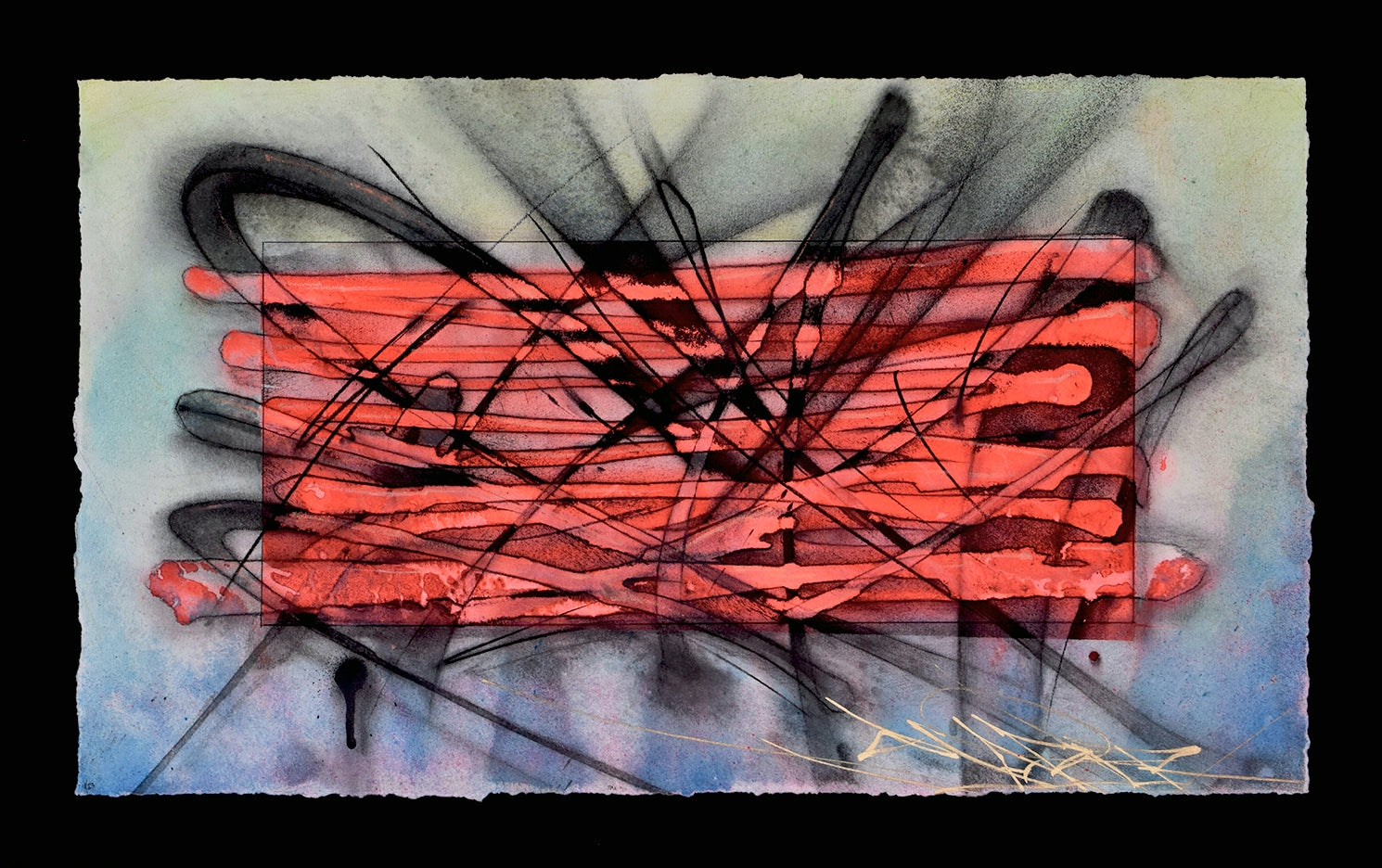 """HAZARD ORANGE"" Original Artwork Series On Paper"