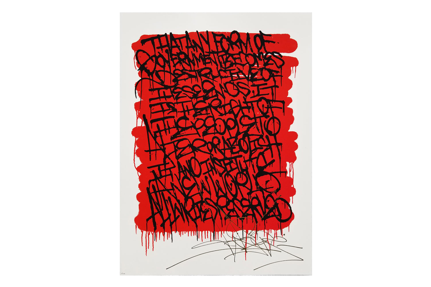 RED & BLACK DECLARATION2 AP Serigraph
