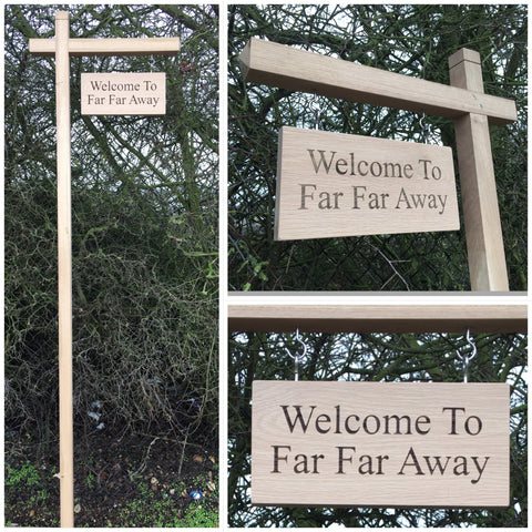 Oak Hanging Sign and Post