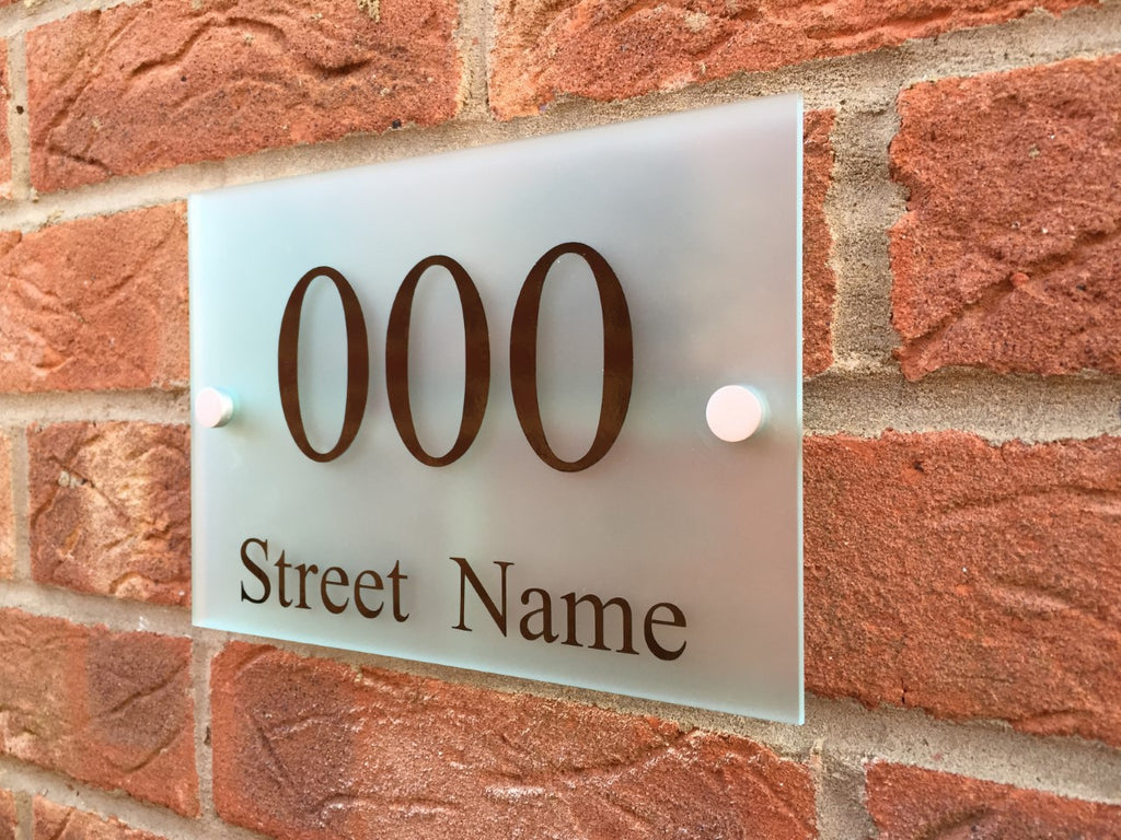Frosted Acrylic Address Sign Plaque