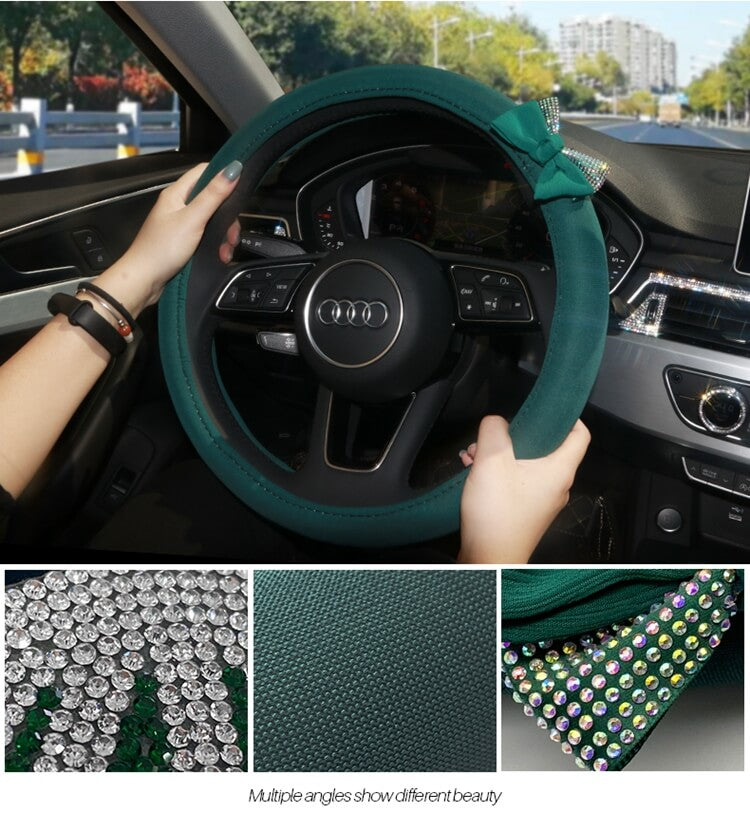 emerald-green-steering-wheel-covers-with-crystal-diamonds