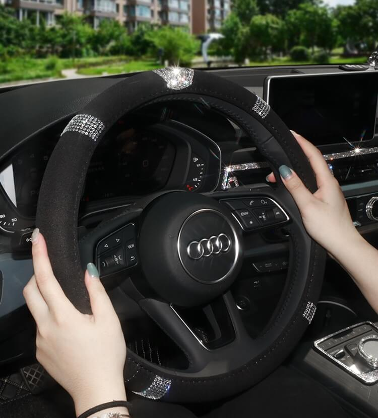 black-steering-wheel-covers-with-crystal-diamonds