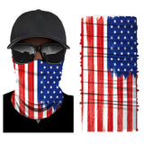 UV Protection American Flag Bandana Neck Gaiter Reusable Scarf For Men Women