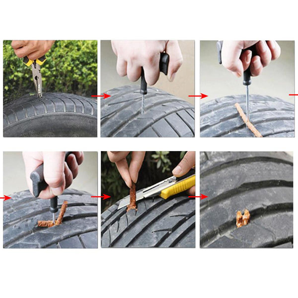 Car Motorcycle Vacuum Tire Repairing Wrench Puncture Fixing Auto Care Supplies