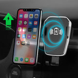 Wireless Car Charger Mount QI Fast Charger For iPhone XS Max X XR 8 Plus Samsung S9 S8 S7