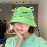 Adults Fashion Frog Hat Funny Cotton Bucket Hat