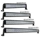 Car Truck SUV ATV 4x4 OffRoad Light Bar LED Work Light Bar 4WD 5D Curved  for Tractor Boat