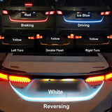 Car Rear Trunk Tail Light Dynamic Streamer Brake Turn Signal Reverse Led Warning Light