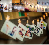 Card Pictures Photos Clips Pegs Bright Battery Powered LED String Light