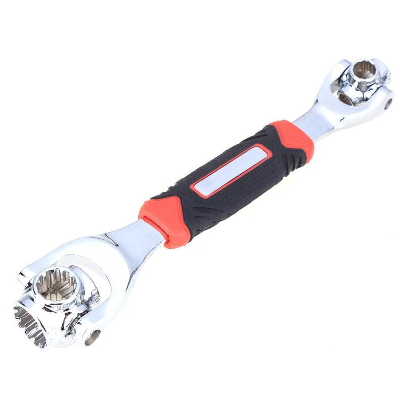 Universal Socket Wrench Adjustable Ratchet Wrench 360 Degree Rotating Head For Spline Bolts Torx Spanner Tool for Home and Car Repair 48 Tools In One 12-Point 6-Point Square Bolts