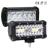 4x4 SUV ATV 12V 24V Off RoadLED Light Bar Work Light Bar 7 inch for Driving Offroad Boat Car Tractor Truck