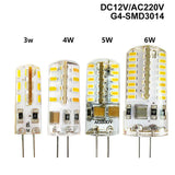 G4 LED Lamp SMD 3014 DC 12 V / AC 220V 110V 1W 3W 5W 6W 7W Replace 30W/60W Halogen Lamp 360 Beam Angle LED Lampada Bulb 1Pcs