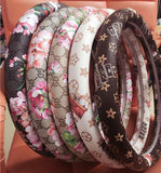 Fashionable Steering Wheel Covers with Vintage Patterns for Women
