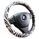 Zebra Print Universal Cute Car Steering Wheel Covers-M79