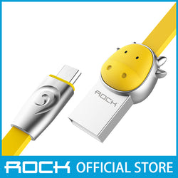 Rock Chinese Zodiac Micro-USB flat Data Cable 1M Bull Yellow RCB0531