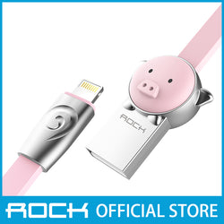 Rock Chinese Zodiac Lightning Flat Data Cable 1M Pig Pink RCB0503