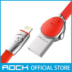 Rock Chinese Zodiac Micro-USB flat Data Cable 1M Chicken Red RCB0531