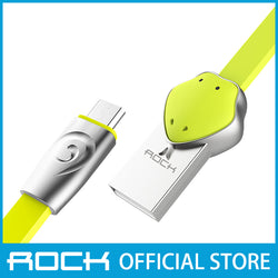 Rock Chinese Zodiac Micro-USB flat Data Cable 1M Snake Green RCB0531