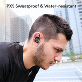 AiPower Key Series True Wireless Earbuds IPX5 Noise Isolation Bluetooth 5.0 Deep Bass Earphones EP-T10 Lite Black