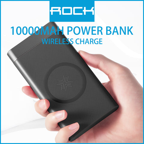 Rock P55 Wireless Charging Powerbank 10000mAh Black