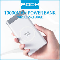 Rock P55 Wireless Charging Powerbank 10000mAh White