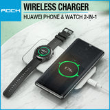 Rock W32 Portable 2-in-1 Wireless Charger for Huawei Watch Phone