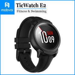 Mobvoi TicWatch E2 Waterproof Smartwatch 24 Hours HeartRate Monitor Google Wear OS Compatible with Android and iOS Black