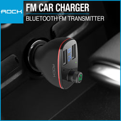 Rock B300 Bluetooth FM Transmitter Car Charger Black RAU0621