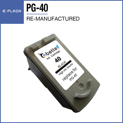 Re-manufactured Ink Cartridge Compatible Canon PG-40 Black