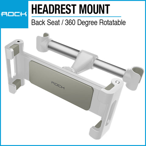 Rock Universal Car Headrest Mount Silver RPH0838