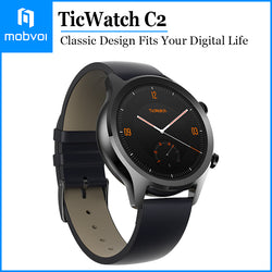 Mobvoi TicWatch C2 Wear OS Smartwatch for Women with Build-in GPS Waterproof for iOS and Android Onyx