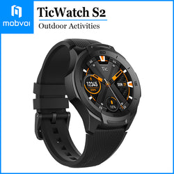 Mobvoi TicWatch S2 Waterproof Smartwatch Build-in GPS Outdoor Activities Google Wear OS for Android and iOS Midnight