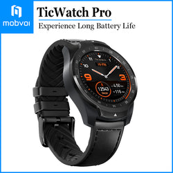 Mobvoi TicWatch Pro Smartwatch Long Battery Life GPS Build-in Google Wear OS for iOS and Android Black