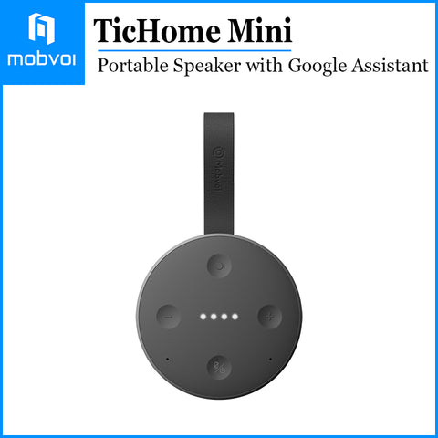 Mobvoi TicHome Mini Google Assistant Smart Home Portable Bluetooth Speaker Black