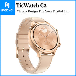 Mobvoi TicWatch C2 Wear OS Smartwatch for Women with Build-in GPS Waterproof for iOS and Android Rose Gold
