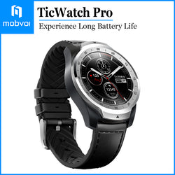 Mobvoi TicWatch Pro Smartwatch Long Battery Life GPS Build-in Google Wear OS for iOS and Android Silver