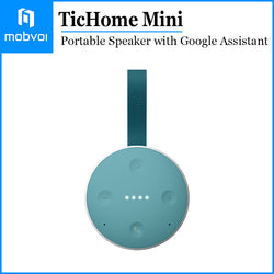 Mobvoi TicHome Mini Google Assistant Smart Home Portable Bluetooth Speaker Teal