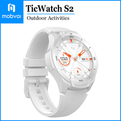 Mobvoi TicWatch S2 Waterproof Smartwatch Build-in GPS Outdoor Activities Google Wear OS for Android and iOS White